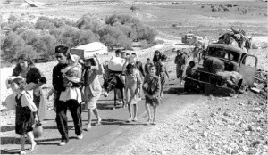 Palestinians refugees on the run from Nazi surviving refugees 1948