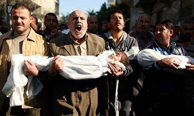About 540 Palestinian children in total were killed last year in Gaza (530) and the West Bank (10),