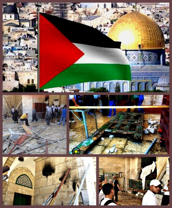 Al-Aqsa mosque - trashed by IDF