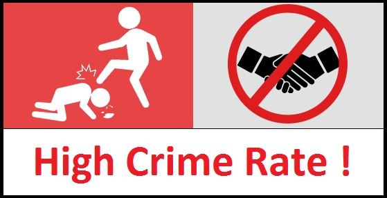 Image result for high crime rates